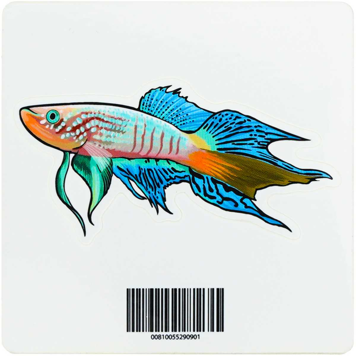 Blue Gularis Killifish Decal Sticker