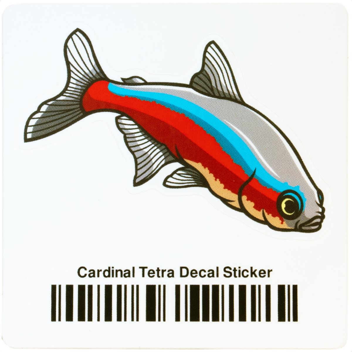 Cardinal Tetra Decal Sticker