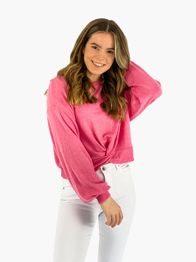 Jean and Jil Cropped Pullover Aylin pink