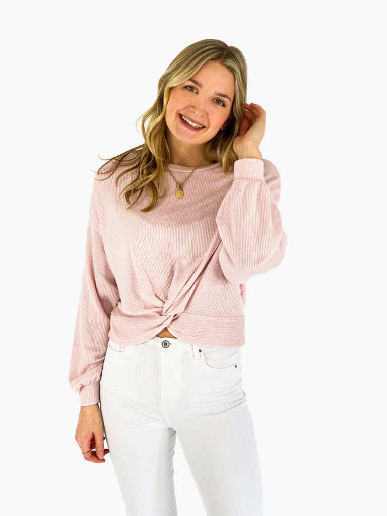 Jean and Jil  Cropped Pullover Aylin rosa
