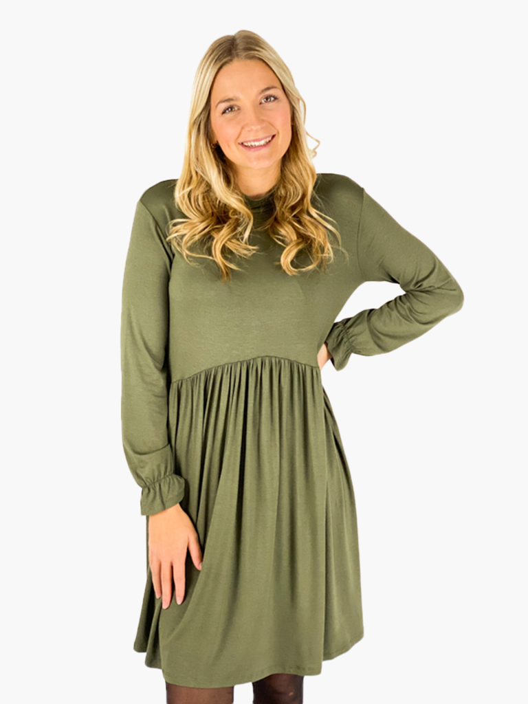 Jean and Jil Kleid Greta khaki