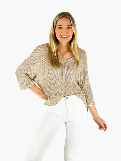 Jean and Jil Pullover Leonie sand