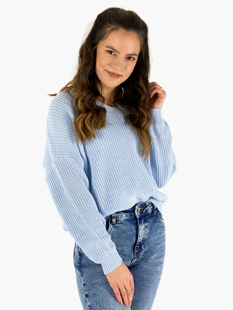 Jean and Jil Pullover Willma himmelblau