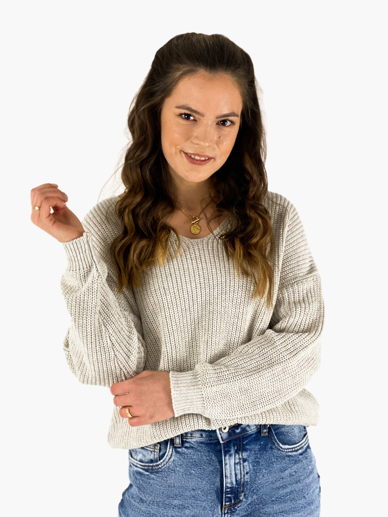Jean and Jil Pullover Willma sand