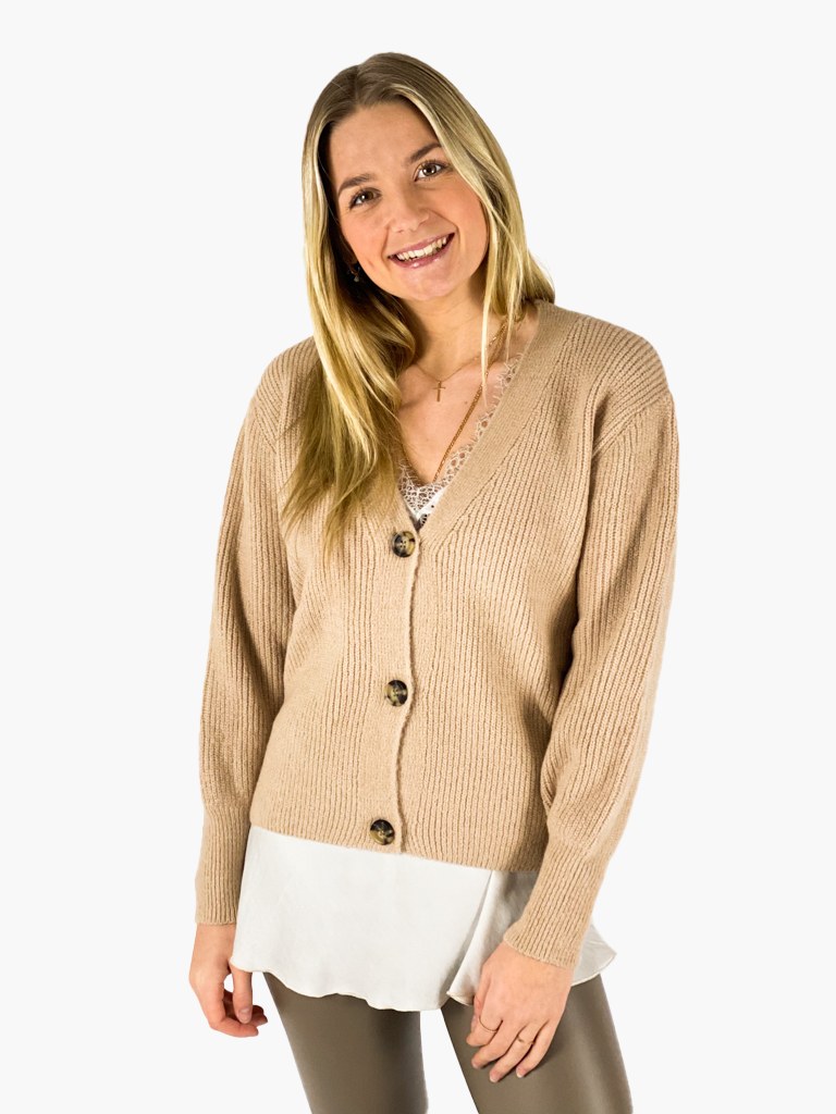 Jean and Jil Strickjacke Grace camel