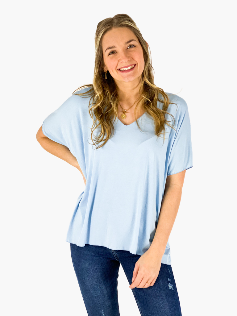 Jean and Jil T-Shirt Viola hellblau