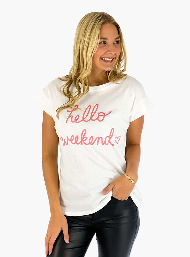 Jean and Jil T-Shirt hello weekend