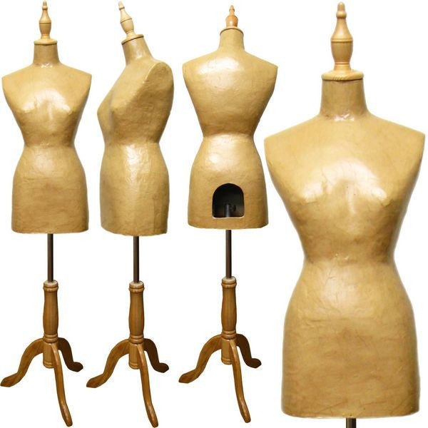 Paper Mache French Dress Form - DI-FDF-101