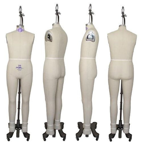 Industry Pro Pinnable Male Full Dress Form w/ Hip - DI-MDF-110