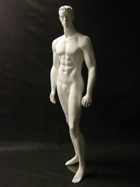 Male Molded Hair Mannequin - Kai