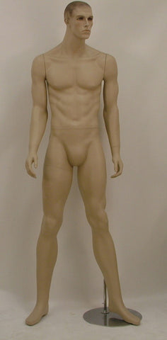 Male Molded Hair Mannequin - Elliott