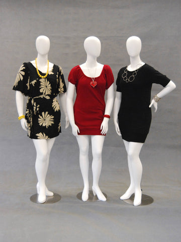 Plus Size Mannequins - Mary, Kitty & Yasmin (GROUP)