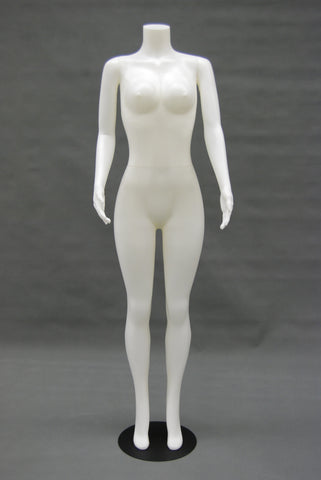 Female Headless Plastic Mannequin in White
