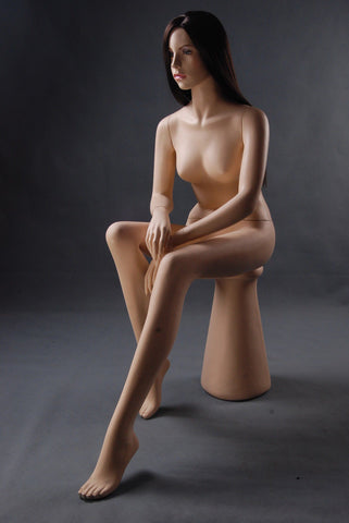 Realistic Sitting Female Mannequin - Lacie