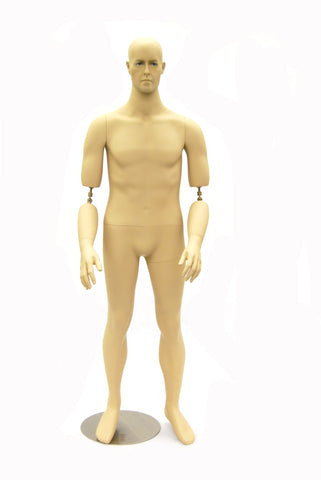 Realistic Male Mannequin w/ Flexible Bendable Arms - Toby