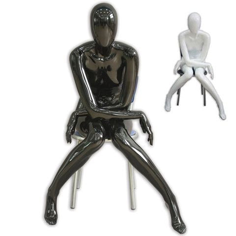 Abstract Female Sitting Mannequin- Evie