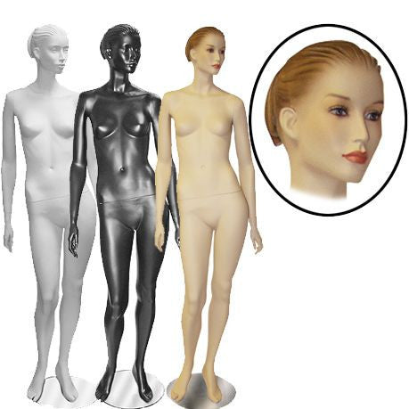 Female Molded Hair Mannequin- Megan
