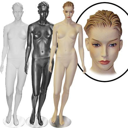 Female Molded Hair Mannequin - Isabella