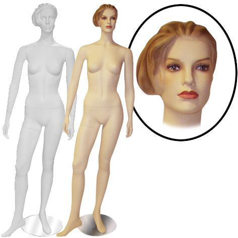 Female Molded Hair Mannequin- Lilly