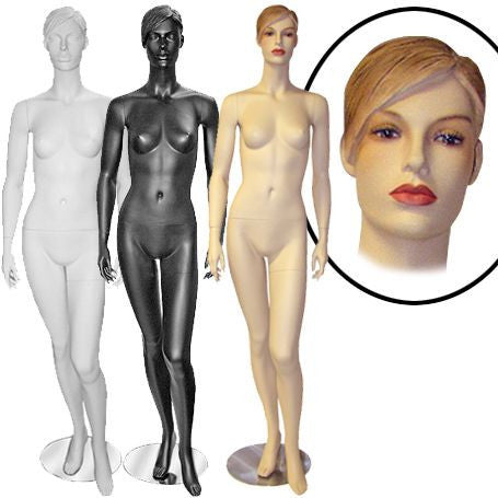 Female Molded Hair Mannequin- Millie