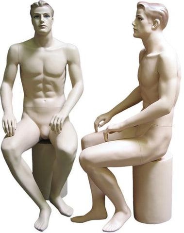 Male Molded Hair Mannequin - Samuel