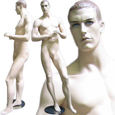 Male Molded Hair Mannequin - Callum