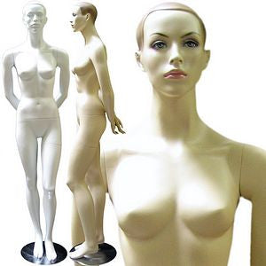Female Molded Hair Mannequin - Amy