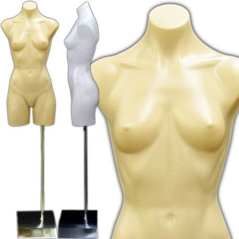 Plastic Female Armless Body Torso Form - DI-FT-103