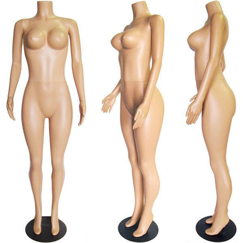 Headless Female Plastic Mannequin - Poppy