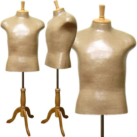 Paper Mache Male Dress Form - DI-MDF-101