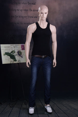Male Molded Hair Mannequin - David
