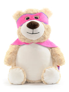 Cubbies Cubbyford Hero Pink & Purple Bear