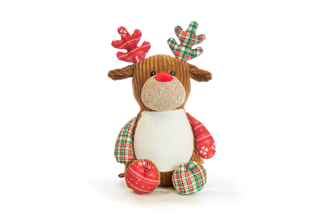 NEW Cubbies Red Harlequin Christmas Reindeer
