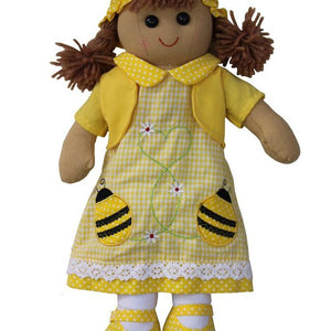 Bumble Bee Embroidered Dress 40cm Rag-doll