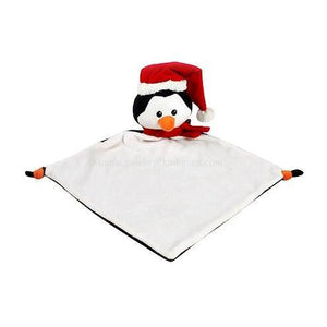 Cubbies Christmas Penguin with Santa Hat Blankie