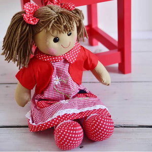 Ladybird Embroidered Dress 40cm Rag-doll