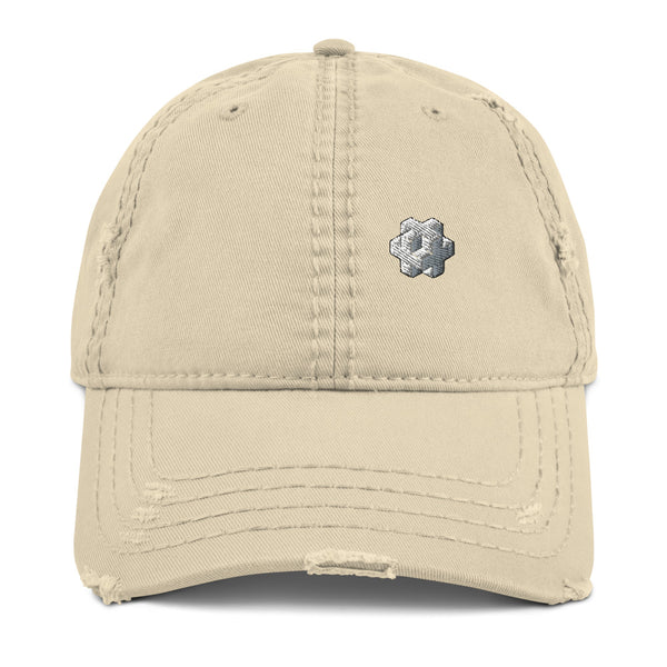 Feral Cat Distressed Dad Hat