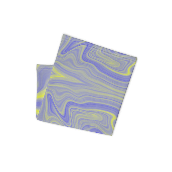 Blue & Yellow Tie-Dye Neck Gaiter