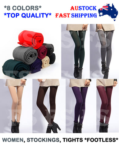 WOMEN LADIES FOOTLESS TIGHTS LEGGINGS PANTYHOSE LEG