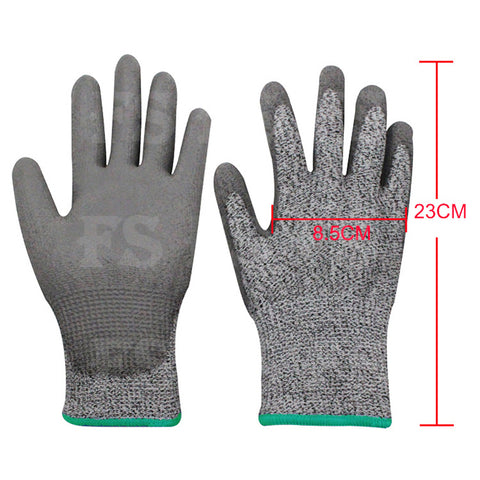 SAFETY GLOVES CUT RESISTANT LEVEL 5 ANTI CUT WORK GLOVES HAND PROTECTION