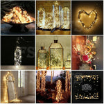 20-100 LED BATTERY POWERED STRING FAIRY LIGHTS COPPER WIRE WATERPROOF XMAS DECOR