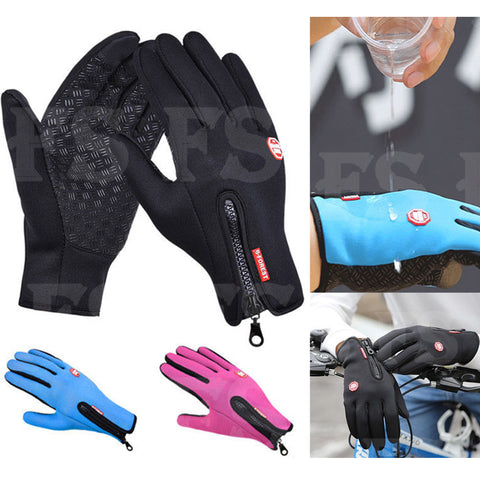 CYCLING WINTER WARM WINDPROOF WATERPROOF ANTI-SLIP THERMAL TOUCH SCREEN GLOVES