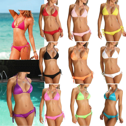 WOMEN BIKINI SET TOP BRA BOTTOM SUMMER SEXY LINGERIE SWIMSUIT SWIMWEAR BEACH