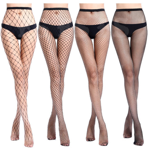Black Fishnet Stockings Sexy Fashion Womens Lady Mesh Net High Waist Tights