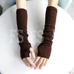 WOMEN MEN NEW HOT SELLING KNIT FASHION WINTER FINGERLESS ARM GLOVES *AUS STOCK*