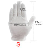 6 PAIRS WOMEN MEN COTTON GLOVES WHITE SOFT GLOVES COSTUME JEWELRY HANDLING