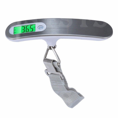 ELECTRONIC PORTABLE DIGITAL LUGGAGE SCALE WEIGH HANGING TRAVEL 50 KG