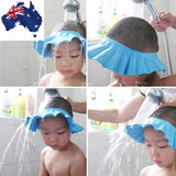 ADJUSTABLE BABY SHOWER CAP BABY KIDS CHILDREN BATH SHAMPOO SHIELD HAT WASH HAIR