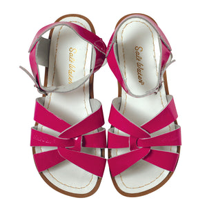 saltwater sandals fuchsia