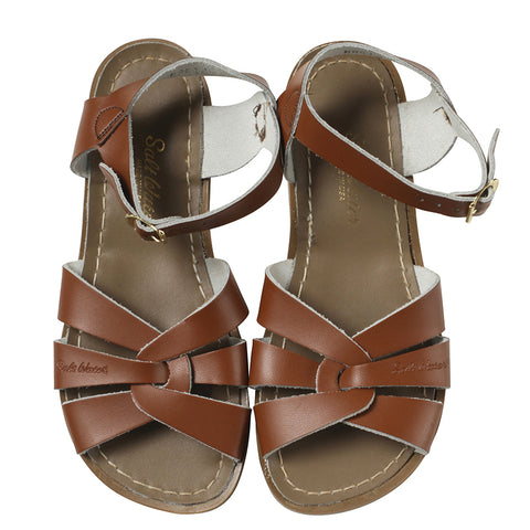 saltwater sandals tan - Chalk